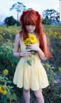 Asuka Langley Soryu Cosplay - Yellow Sunflowers