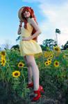 Asuka Yellow Sundress Cosplay - Evangelion