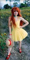 Asuka Langley Soryu Yellow Sundress Cosplay by SailorMappy