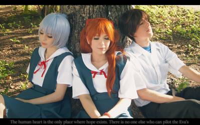 Evangelion Cosplay - Rei Asuka Shinji Eva Children by SailorMappy