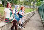 Evangelion Girls - Mari Rei and Asuka Cosplay