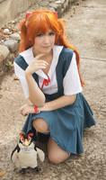 Asuka Langley School Uniform Cosplay - Evangelion by SailorMappy