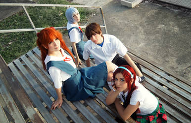 Evangelion You Can (Not) Advance Cosplay Group
