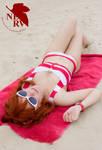 Neon Genesis Evangelion Swimsuit Cosplay - Asuka