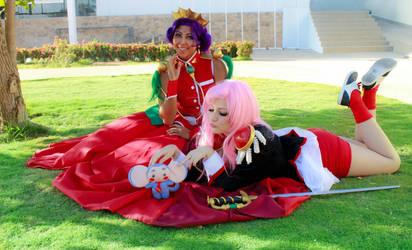 Utena Anthy and Chu Chu - Revolutionary Girl Utena by SailorMappy