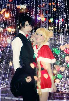 XMAS LOVE - Sailor Moon Usagi and Mamoru Cosplay