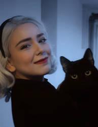 Sabrina Spellman and Salem - CAOS Cosplay