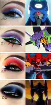 Evangelion Makeup - Eva Units Inspiration