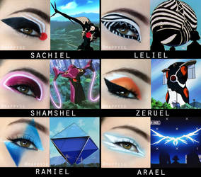 Makeup Inspired by Evangelion Angels