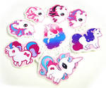 Unicorn sticker set
