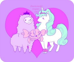 Price Alpaca and Princess unicorn by zambicandy