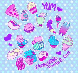 obnoxious foods by zambicandy