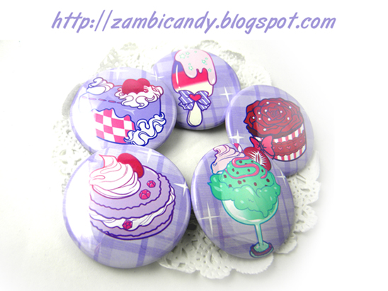 Sweets buttons by zambicandy