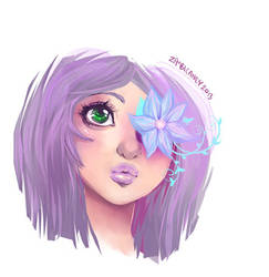Flower eye by zambicandy