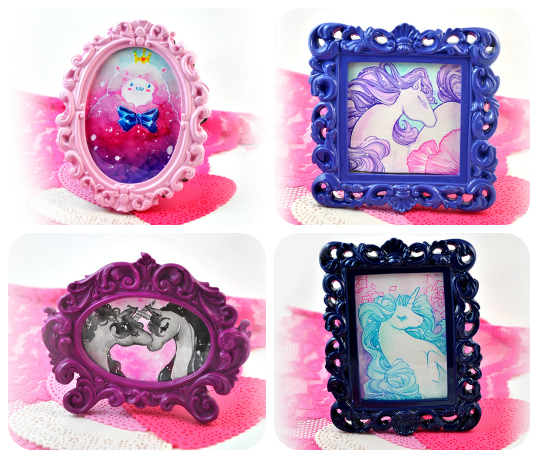 Mini framed watercolors by zambicandy