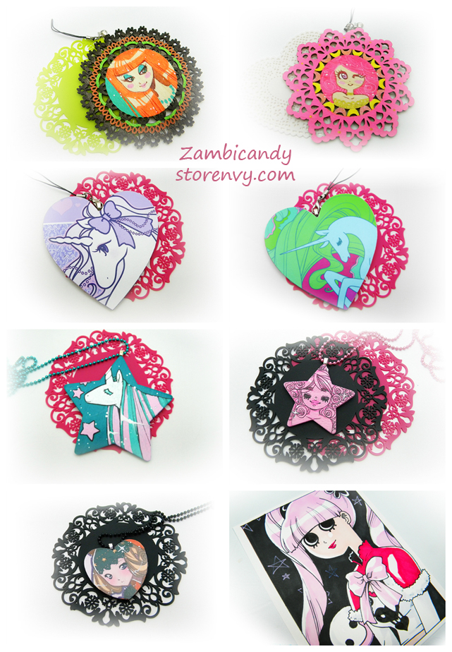 necklaces and wall decor by zambicandy
