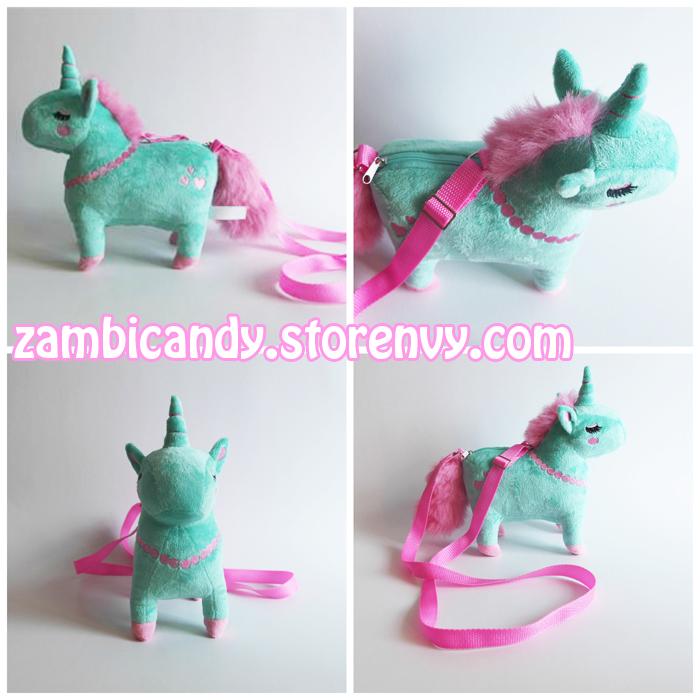 Mint pony plush by zambicandy