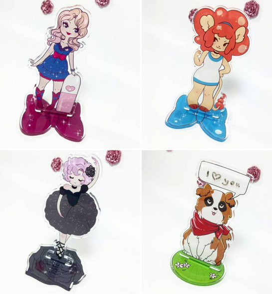 Acrylic stand commissions by zambicandy