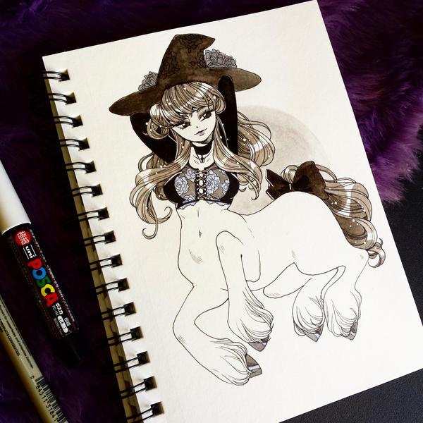 Centaur witch by zambicandy