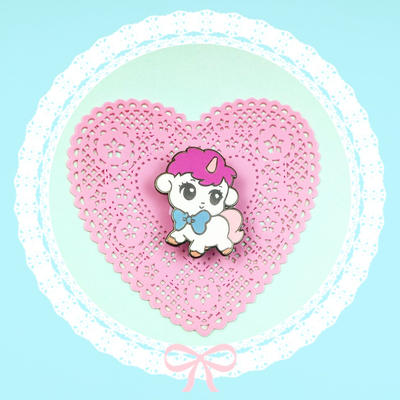 Unico enamel pin by zambicandy
