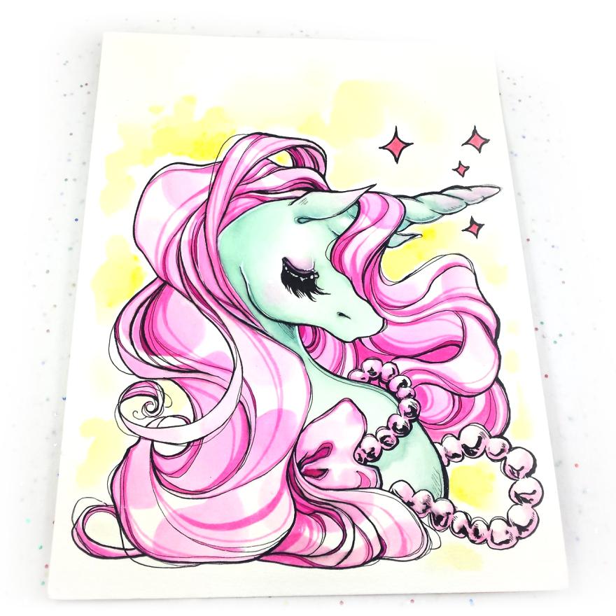 Unicorn watercolor by zambicandy