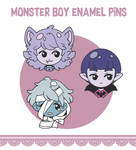 Monster boy enamel pins