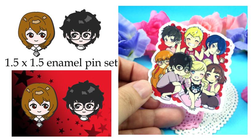 Persona 5 enamel pin pre-orders by zambicandy