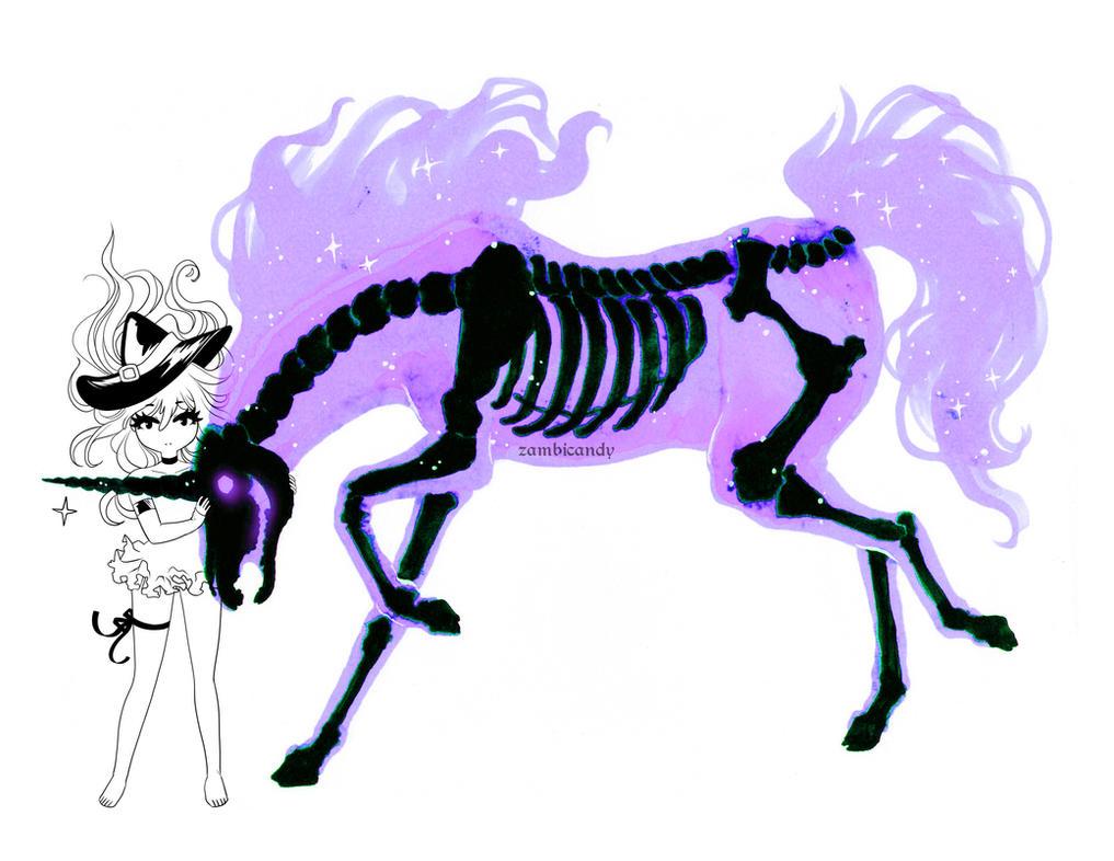 Skeleton unicorn by zambicandy