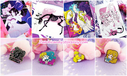 New prints and pins by zambicandy