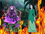 Purple Roses VS Zombie Girl