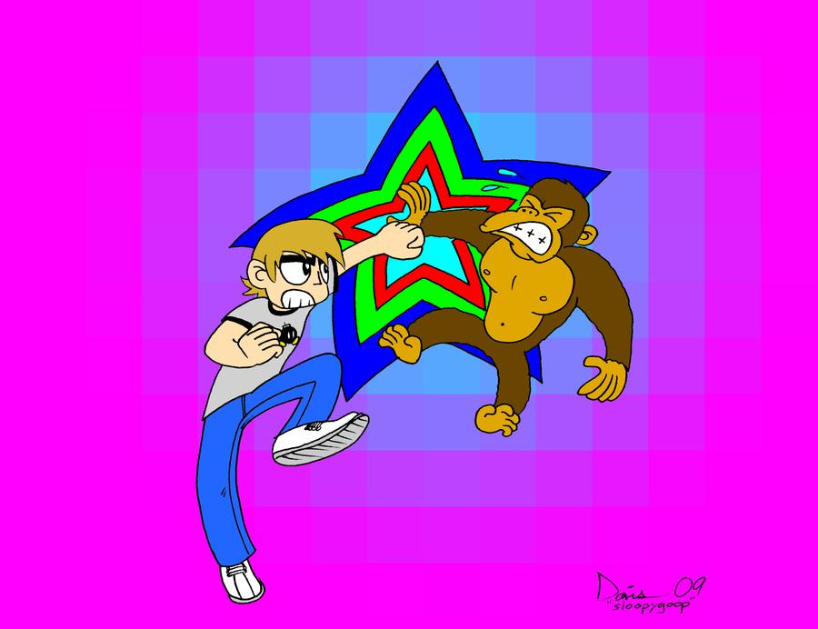 Scott Pilgrim Vs. Donkey Kong by sloopygoop