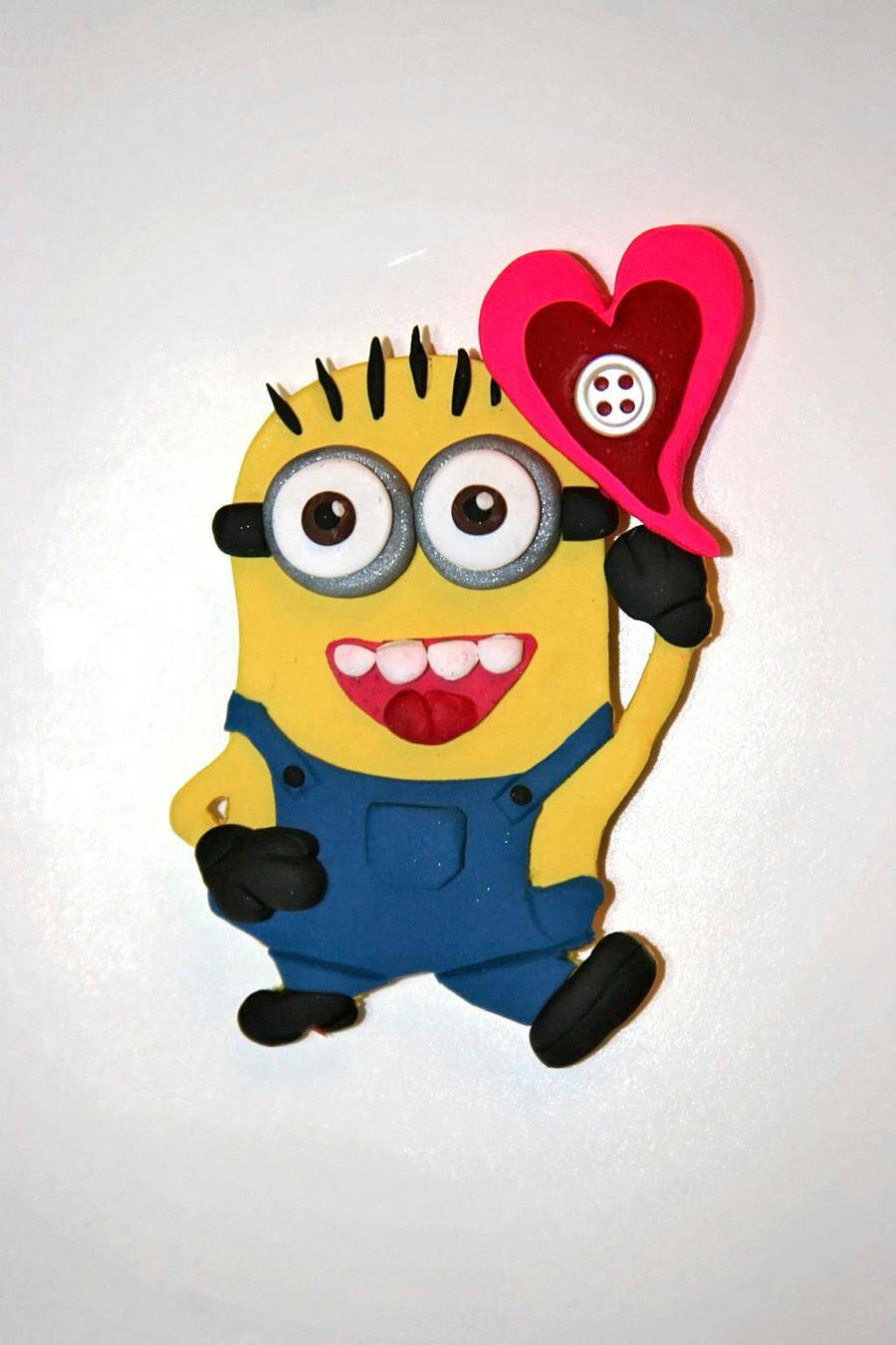 Polymer Clay Minion Valentineu0027s Magnet By Logazorcreative Polymer Clay Minion  Valentineu0027s Magnet By Logazorcreative