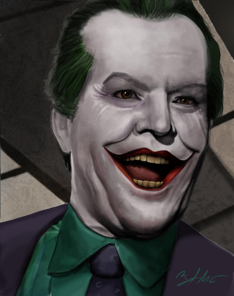 Joker (Jack Nicholson) by MightyGodOfThunder