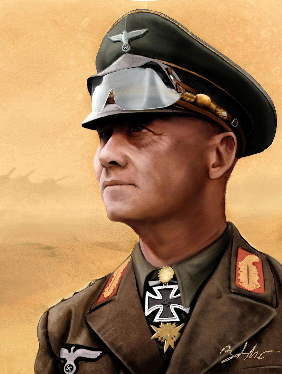 The Desert Fox (Erwin Rommel) by MightyGodOfThunder