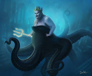 Ursula the Sea Witch by MightyGodOfThunder