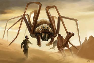 Desert spider by MightyGodOfThunder