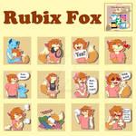 Rubix fox Telegram stickers [commission]