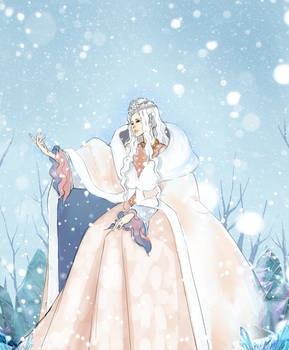 Ice fantasy: Ice Tribe's queen