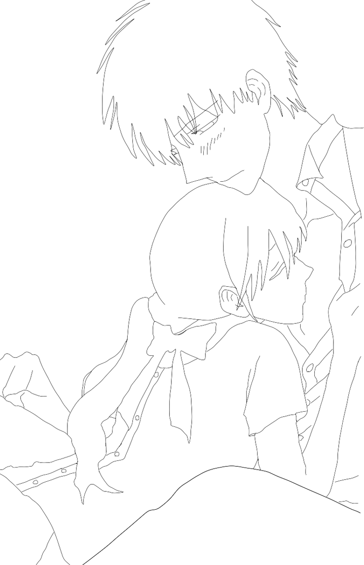 Line Drawing Kiss : Faster than a kiss lineart by satinels on deviantart