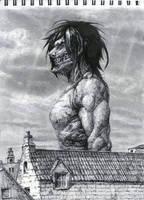 Eren Titan Form by antipatika-haxor