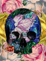 Floral Skull 1 by CalliopeWoods
