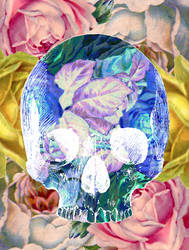 Floral Skull 3 by CalliopeWoods