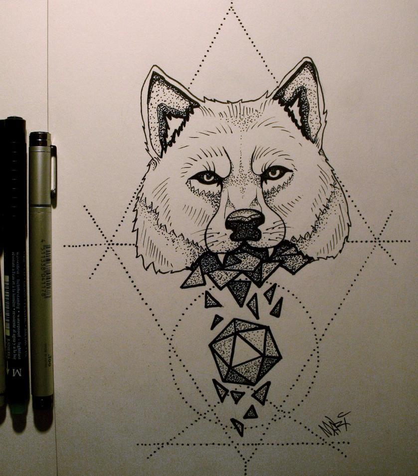 Line Drawing Animal Tattoos : Tattoo wolf by marymarylp on deviantart