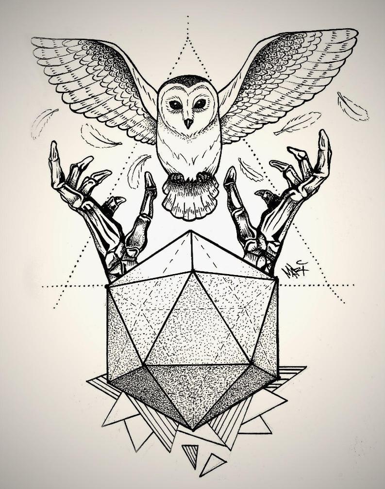 Owl Dotwork Tattoo By Marymarylp On Deviantart
