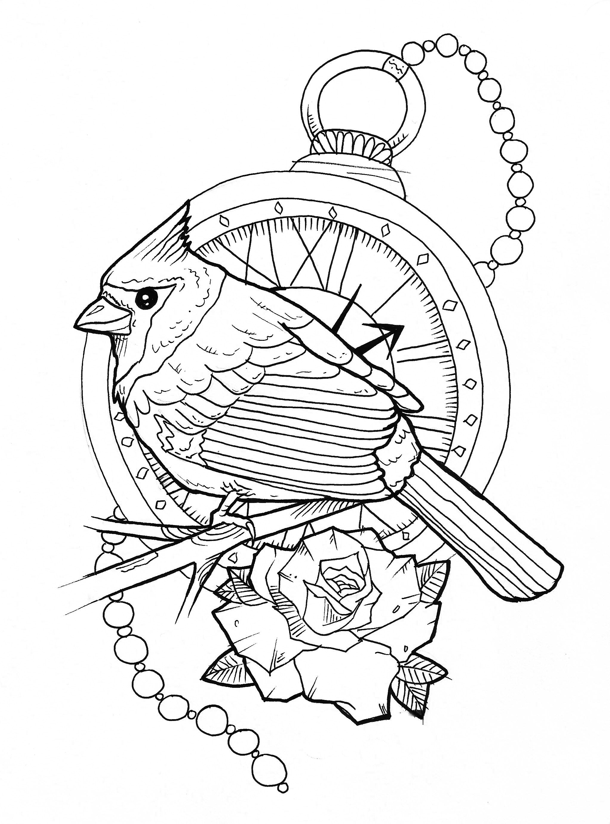 Bird Line Drawing Tattoo : Bird tattoo by marymarylp on deviantart