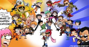 Shonen Jump vs Capcom by xeternalflamebryx