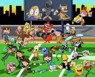 Nickelodeon vs Cartoon Network by xeternalflamebryx