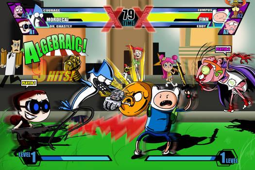 Cartoon Network Fusion Fight (UMVC3 spoof)