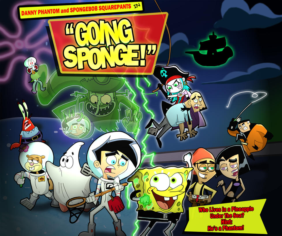 danny phantom and spongebob squarepants by
