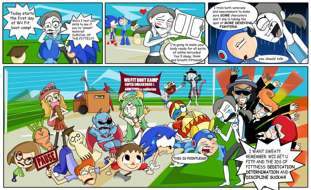 super_smash_bros_4__wii_fit_boot_camp_by